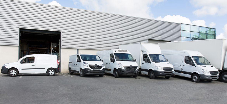 commercial trucks and vans